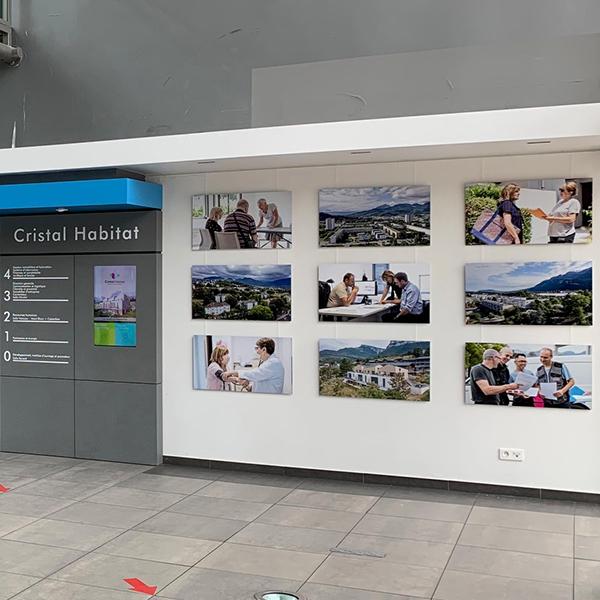 Exposition Dibond Cristal habitat Chambéry Savoie 73