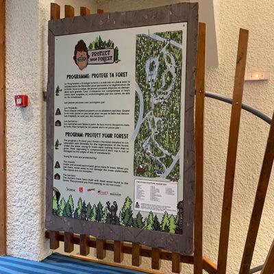 Panneau dibond Serma Avoriaz Haute Savoie 74