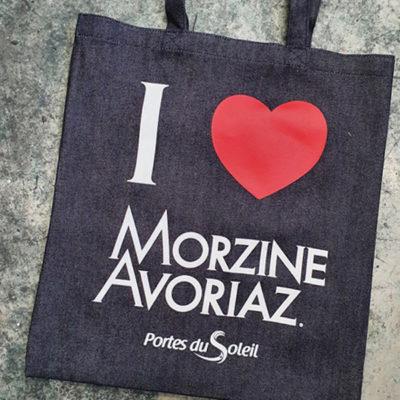 Sac tote bag éco-responsable Morzine Haute Savoie 74