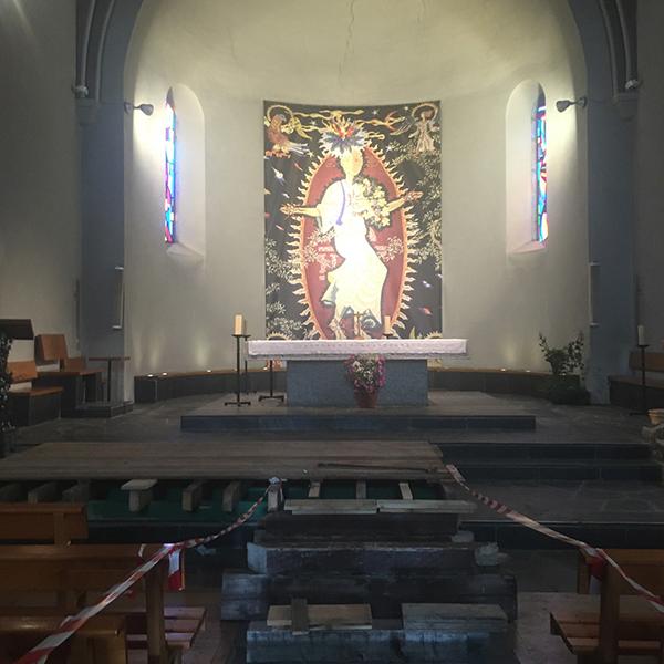 Tissu imprimé Eglise des gets Haute-Savoie 74